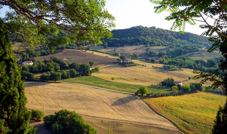 The view of nature in the Marche region of Italy in August