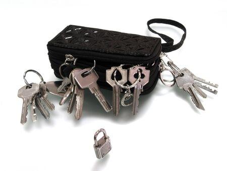 key keeper  versus a small padlock photo