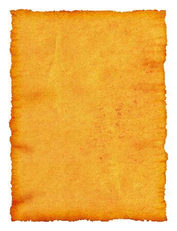 mapa de procesos: Un manuscrito antiguo papiro con bordes dentados. Aislado.