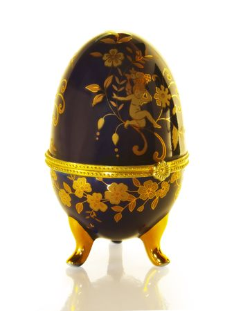 priceless: Easter egg like Faberge. On a white background. Stock Photo