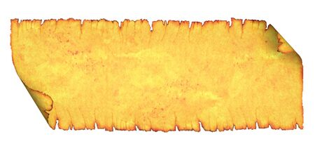 scorched: Blank scroll with scorched edges. On a white background.