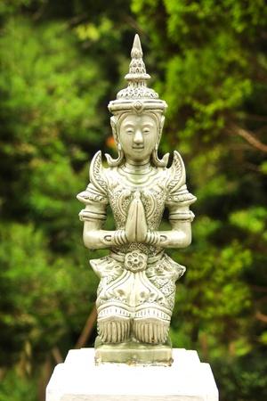 ceramic angel isolated photo