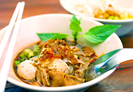 Close up Thai noodle photo