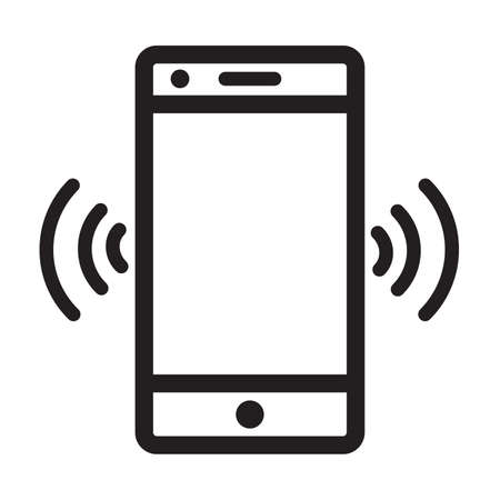 Vibrate Cellphone Logo Icon Vector