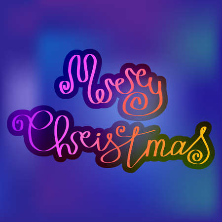 Merry Christmas excellent handdrawn lettering