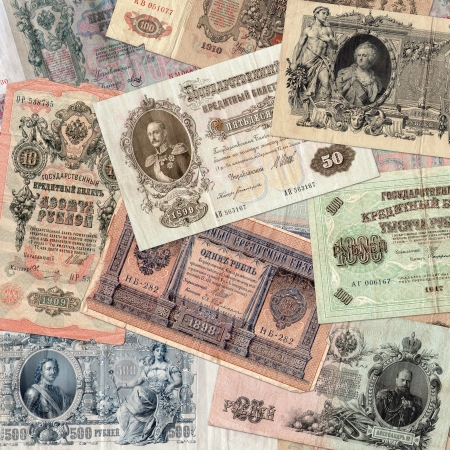 assignation: Background from old money of Imperial Russia  19 - 20 century