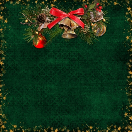 old victorian letter: Christmas background