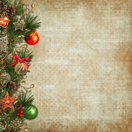 cartoline vittoriane: Vintage Natale sfondo Archivio Fotografico