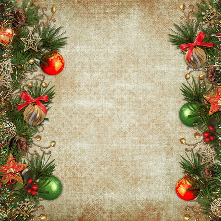 dic: Vintage Christmas background