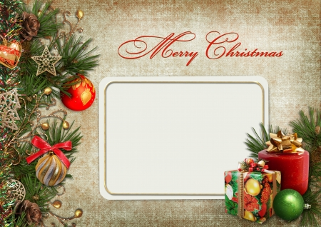 old victorian letter: Christmas greeting card