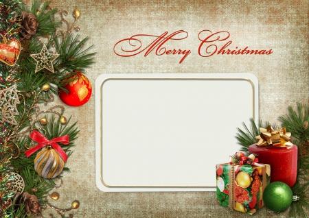 paper ball: Christmas greeting card