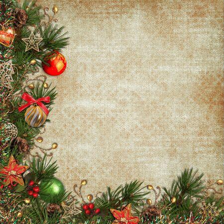 victorian christmas: Vintage Christmas background