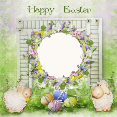 Easter greeting card with space for photo or text photo