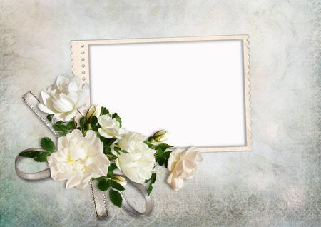 Greeting card with roses  photo