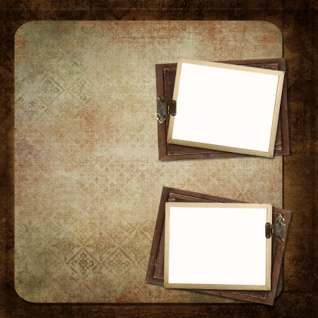 blank note: Old frame on a vintage background