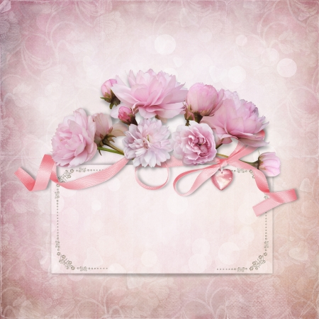 Vintage elegance background with card and rose  Stock Photo - 22649199