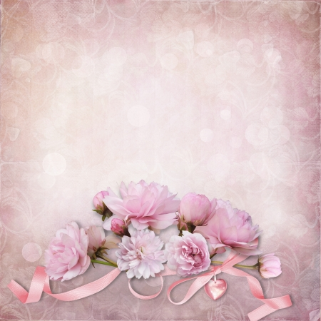 Vintage elegance background with  roses photo