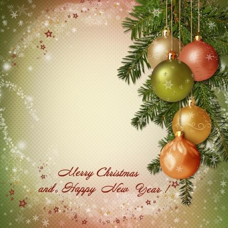 Christmas greeting background Stock Photo - 23030887