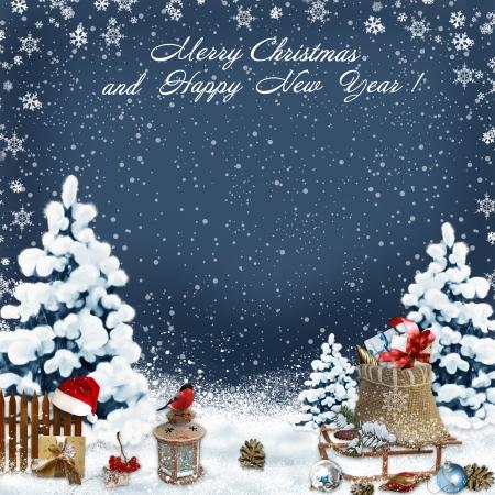 greeting: Christmas greeting background
