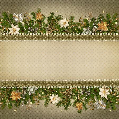 Weihnachtswunder Girlande auf Vintage-Hintergrund