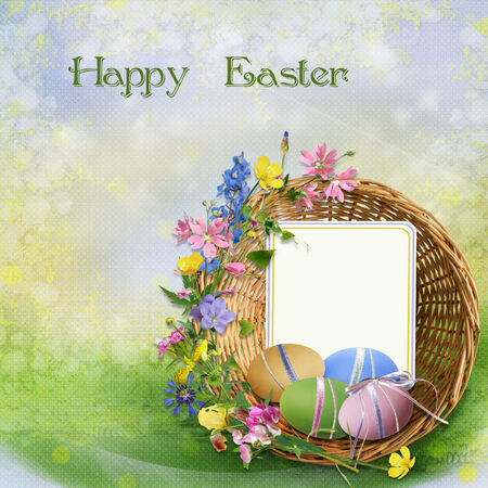 Easter greeting card photo