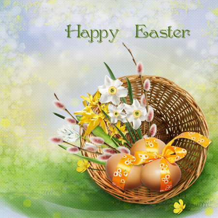 Easter greeting background photo