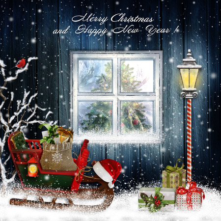 Christmas greeting background photo