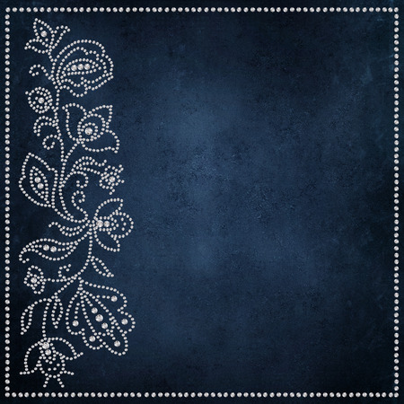 Congratulatory vintage background with patterns and curls of crystals