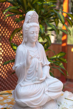 bodhisattva: Guanyin  Bodhisattva statue in the lotus position