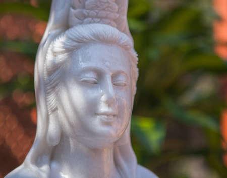 bodhisattva: Guanyin  Bodhisattva statue, spiritual portrait  In meditation