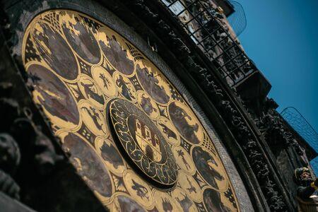 The calendar plate of Prague astronomical clock, close up