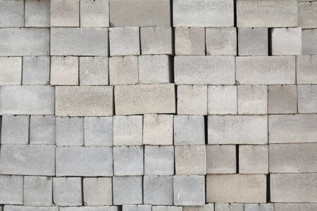 cinder: Cinder blocks are stacked in neat rows in the building stock Stock Photo
