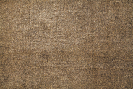 Soft texture. Even piece of burlap with checkered structure Stock Photo