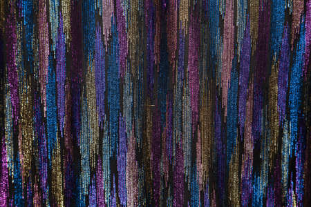 structure of the fabric northern lights with uneven vertical wide stripes of different colors