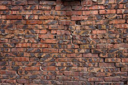 Brick wall of red bricks. Stok Fotoğraf