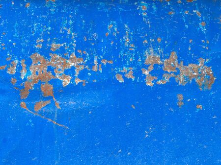 Multi-colored surface with rust elements. Blue prevails. Stok Fotoğraf
