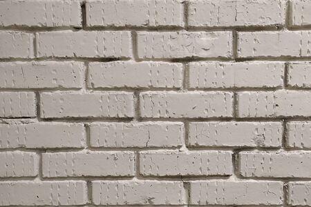 Brick wall. Structure. The white brick. Stok Fotoğraf