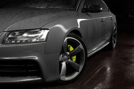 Gray car sportback Reklamní fotografie - 83587804