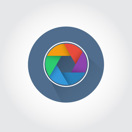 shutter: Vector camera shutter apertures Illustration