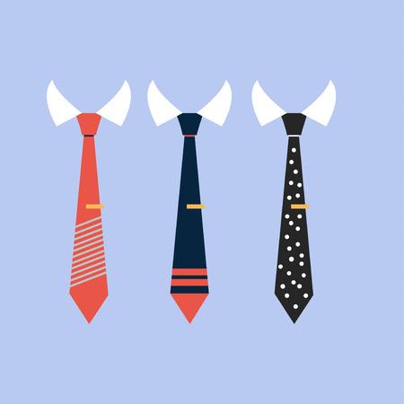Set realistic colorful neckties.