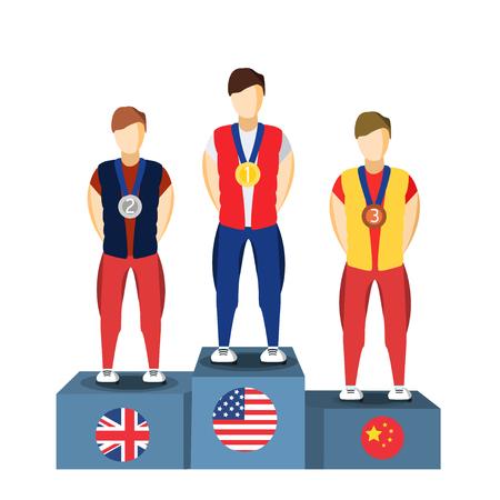athletics: Athletics Winner Podium Athletes. Sports Athletics Image. Brazil Summer Games Athlete Podium. Brasil 2016 Icon.