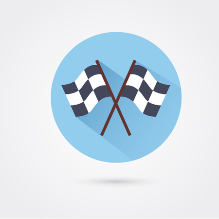 two crossed racing checkered flags Illustration