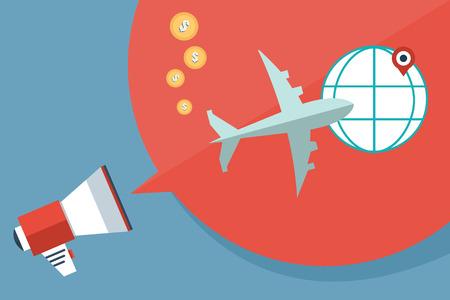 Flat vector illustration backgrounds set. International delivery and worldwide postage.
