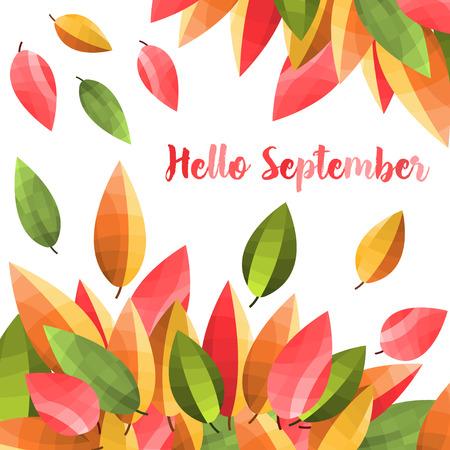 Autumn leaves background . Beautiful autumn illustration Vektor Illustration
