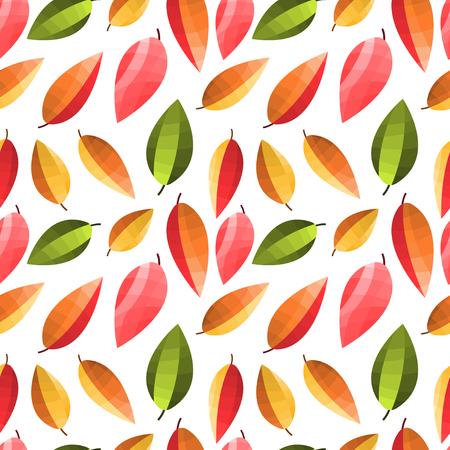 Autumn leaves pattern . Vector illustration seamless pattern