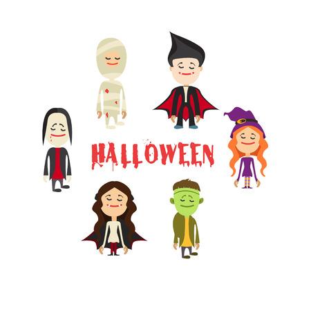 easy to edit vector illustration of Halloween character.Vector illustration Illustration