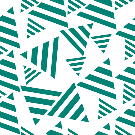 wallpapering: Geometric seamless pattern, triangles. Concept art  vector illustration