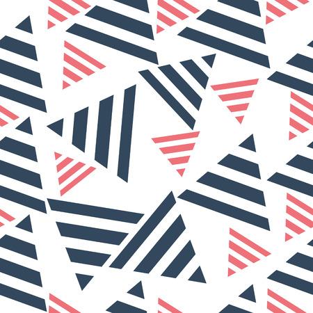 wallpapering: Geometric seamless pattern, triangles. art  vector illustration