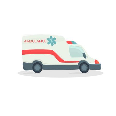 salvation: Ambulance , medical machine . Departure for the salvation of man . Vector illustration