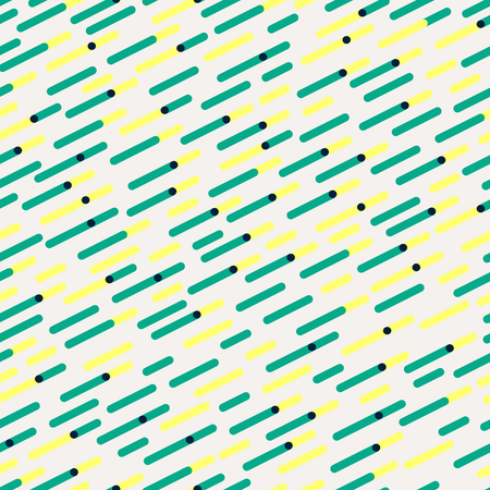 Vector Seamless Parallel Diagonal Red Green Overlapping Color Lines Pattern Background Ilustração